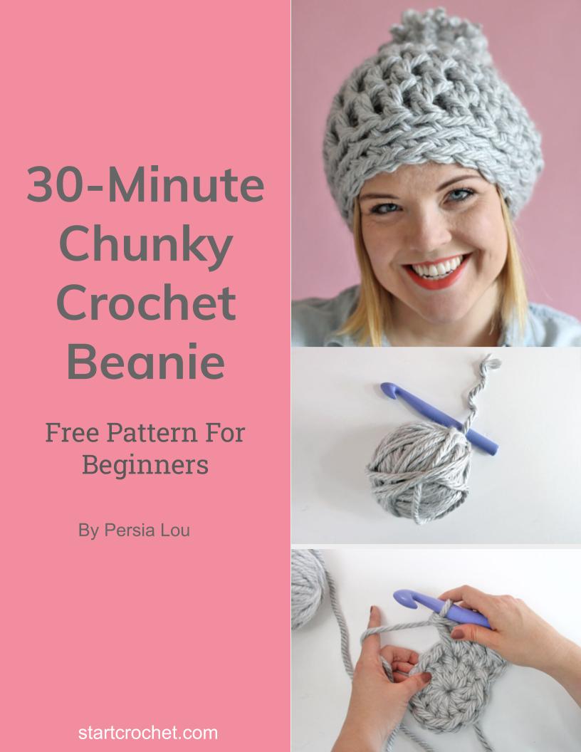 30-Minute Chunky Crochet Beanie - Start Crochet