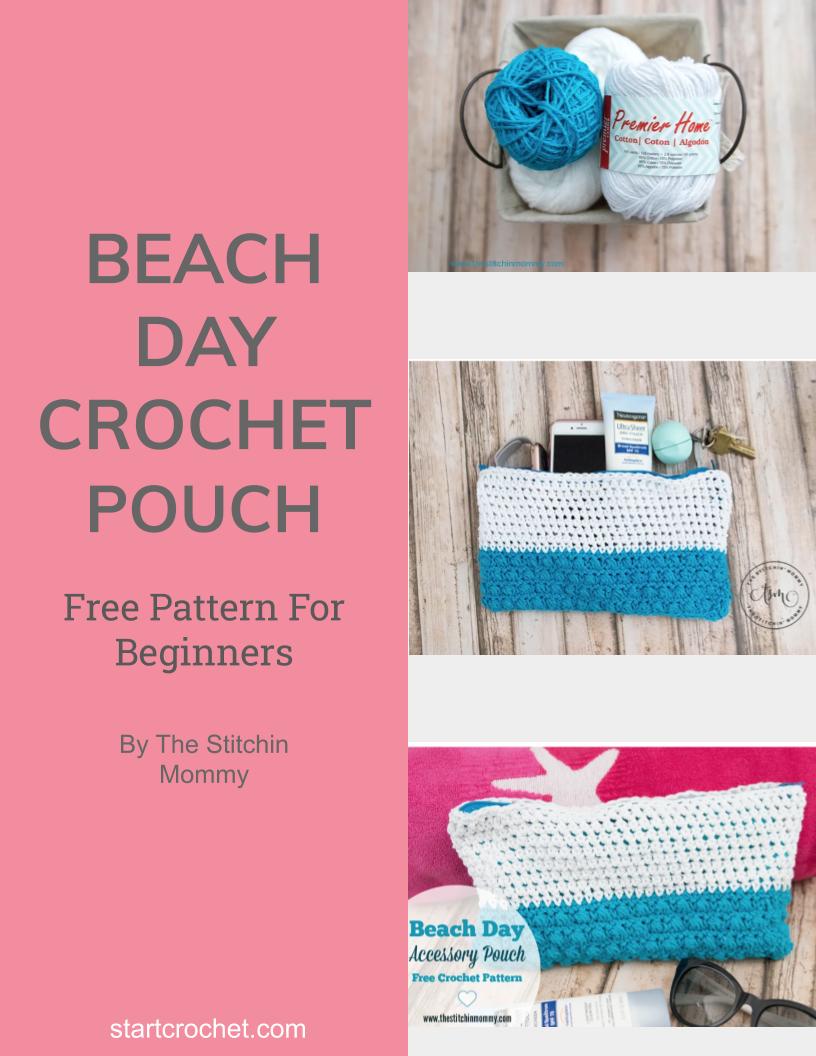 Beach Day Crochet Accessoris Pouch - Start Crochet