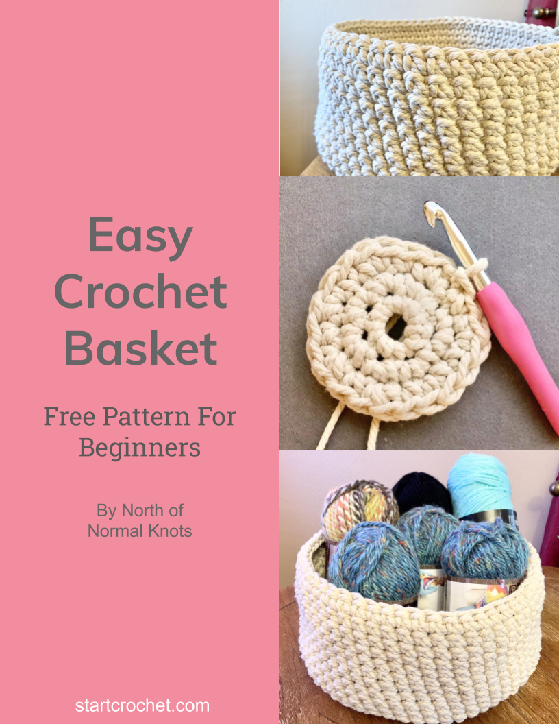 Easy Crochet Basket Free Pattern For Beginners - Start Crochet