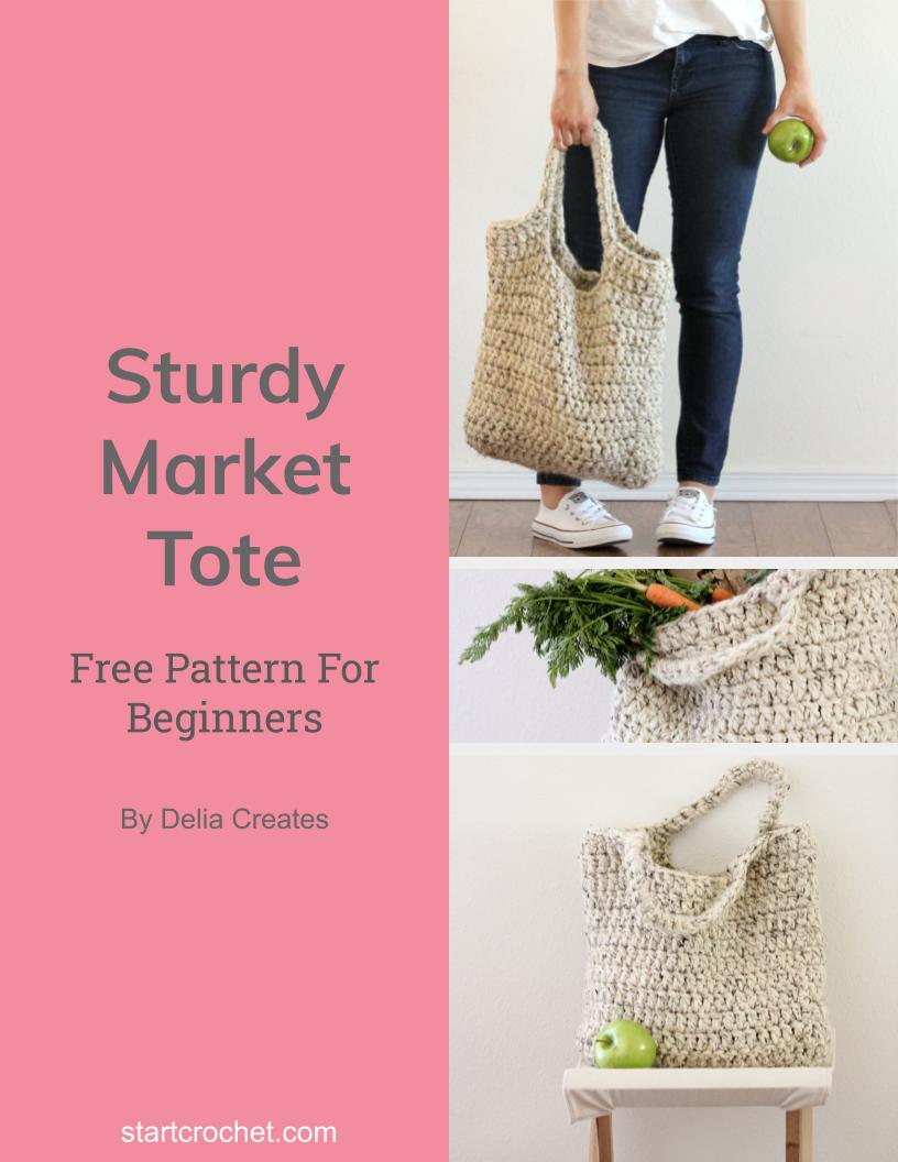 Crochet Market Tote Free Pattern - Start Crochet