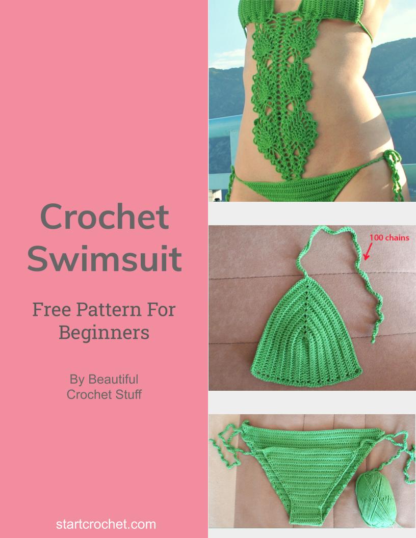 Crochet Swimsuit Free Pattern - Start Crochet