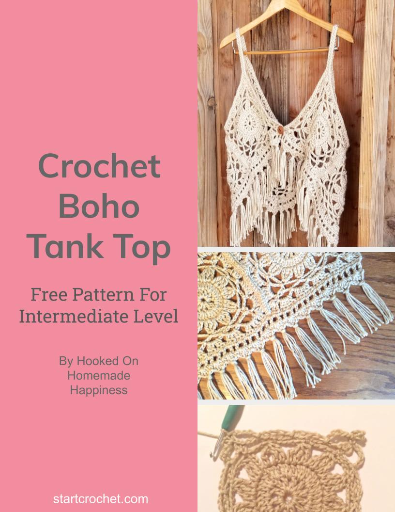Crochet Boho Tank Top Free Pattern - Start Crochet