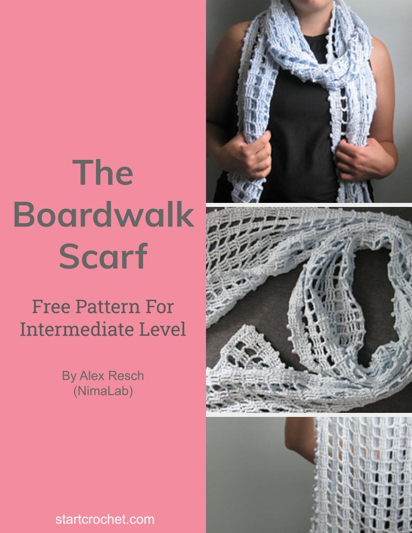 The Boardwalk Scarf Free Crochet Pattern - Start Crochet