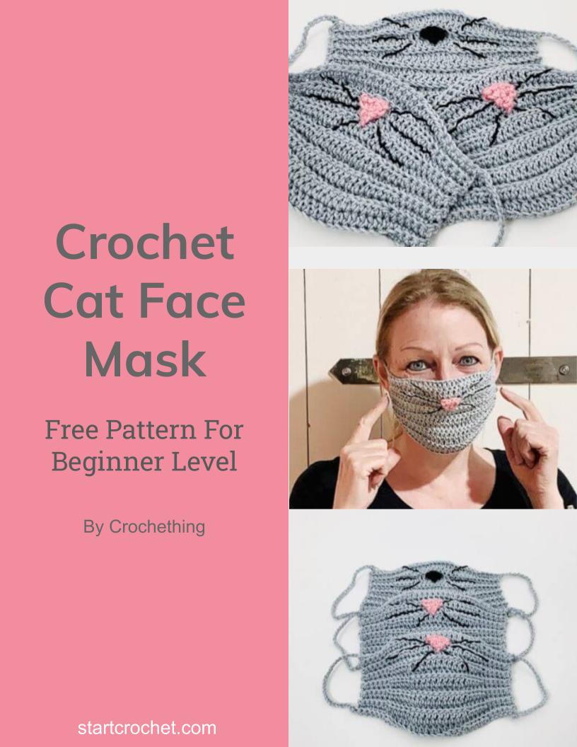 Crochet Cat Face Mask Free Pattern - Start Crochet