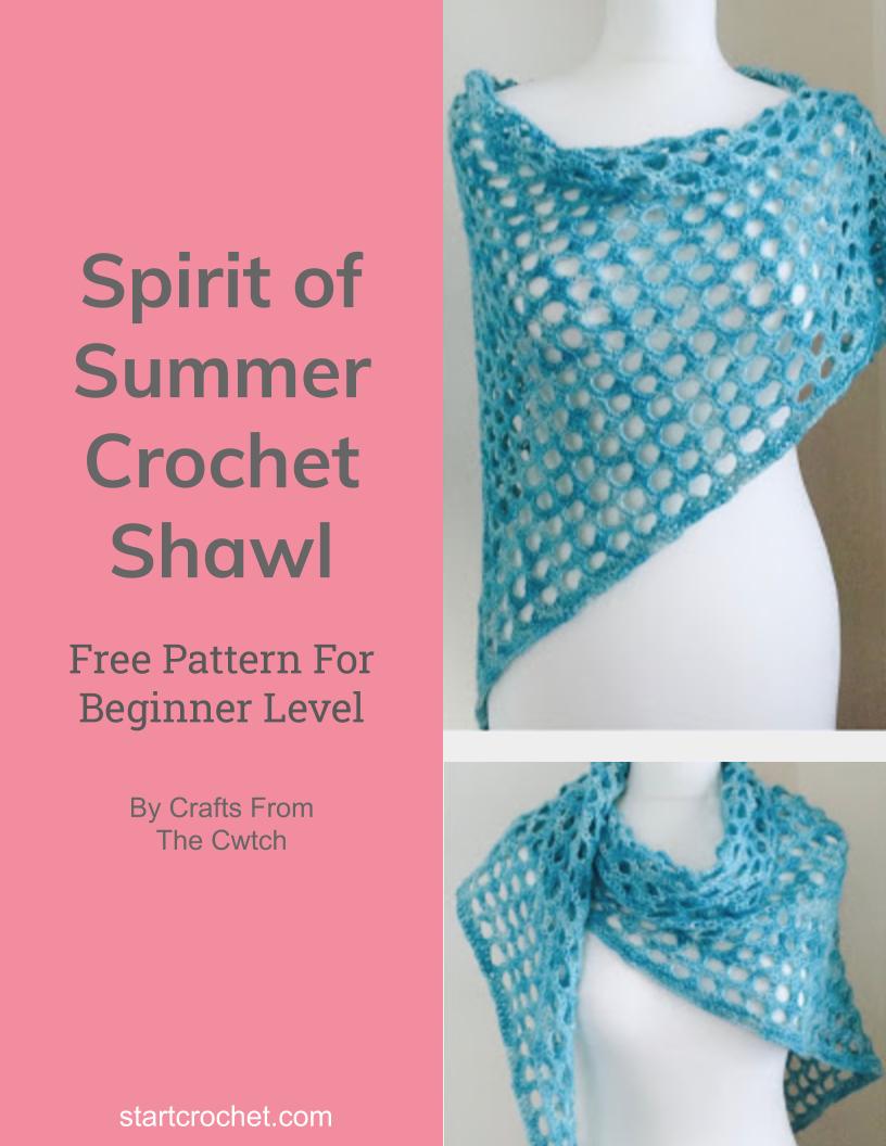Spirit of Summer Crochet Shawl Free Pattern - Start Crochet