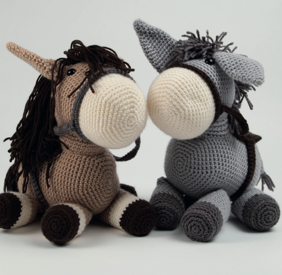 Dera-horse and dera-donkey by Heather Gibbs - Start Crochet