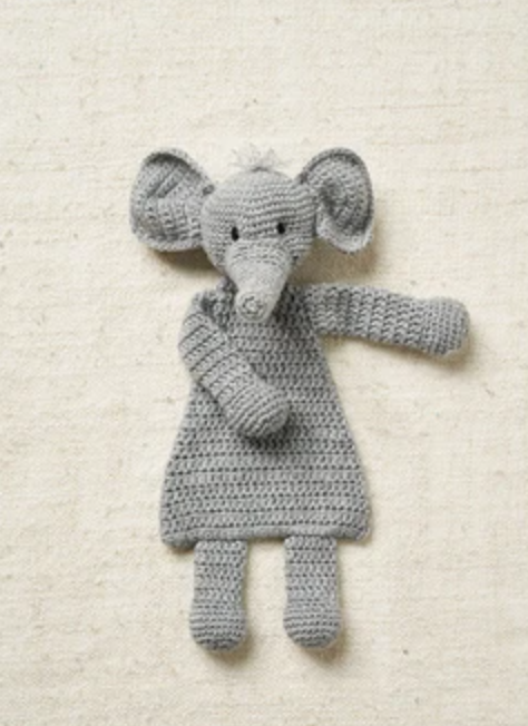 Elephant Flat Toy Crochet Kit and Pattern in Patons Yarn - Start Crochet