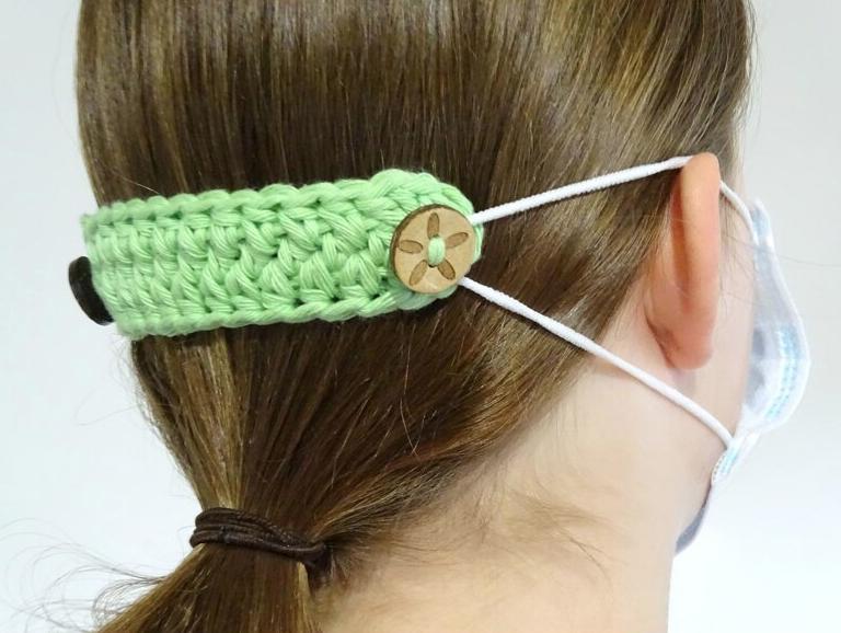Crochet Mask Ear Saver Extender - Start Crochet