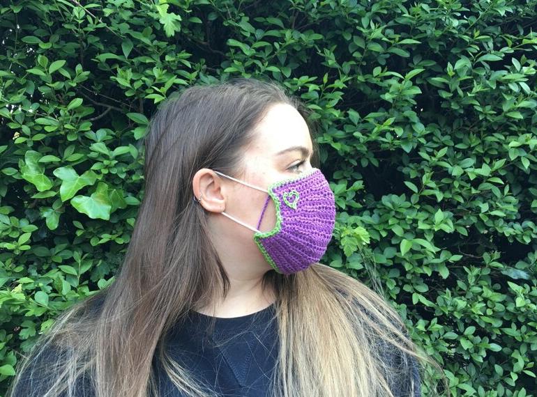 Crochet Face Mask cover  - Start Crochet