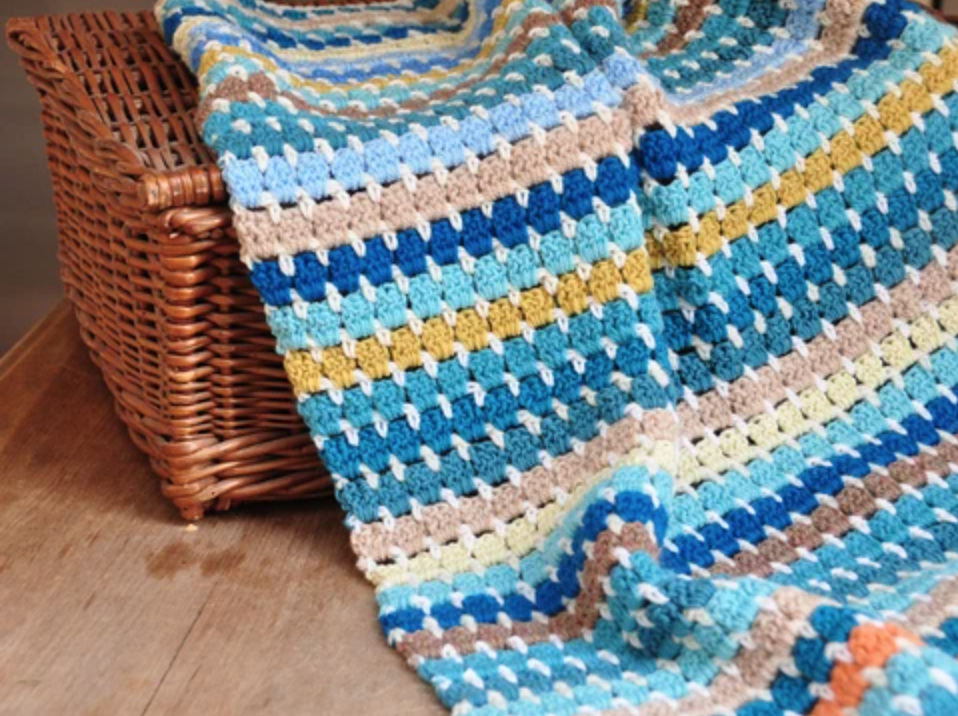 Granny Block Blanket Crochet Kit and Pattern - Start Crochet