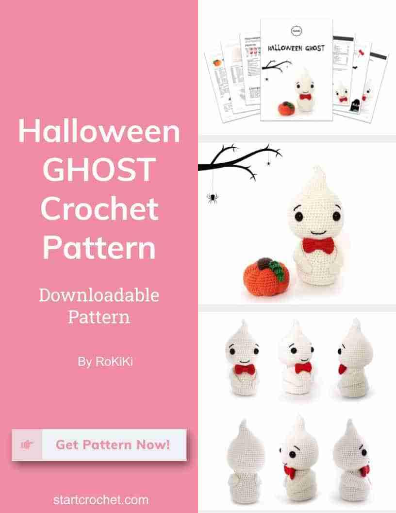 Halloween Ghost Crochet Pattern Rokiki - Start Crochet