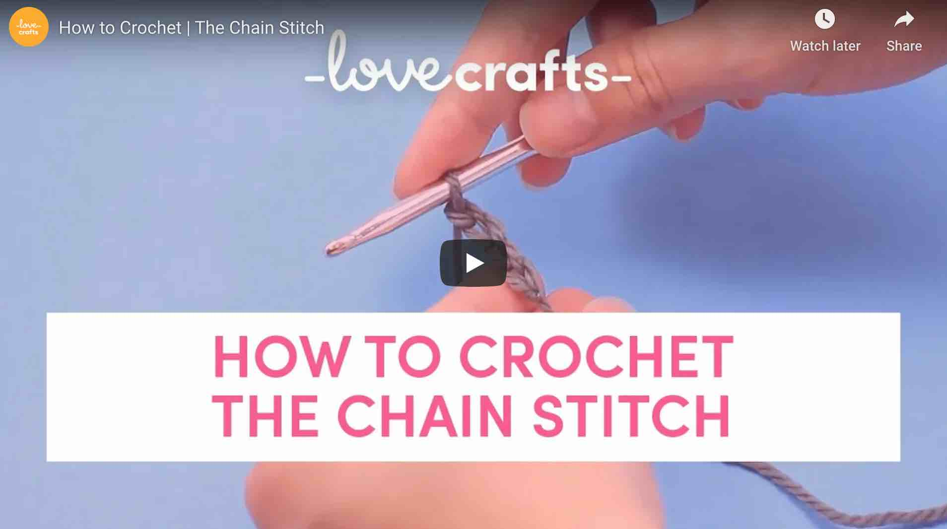 How To Crochet A Chain Stitich Lovecrafts Start Crochet