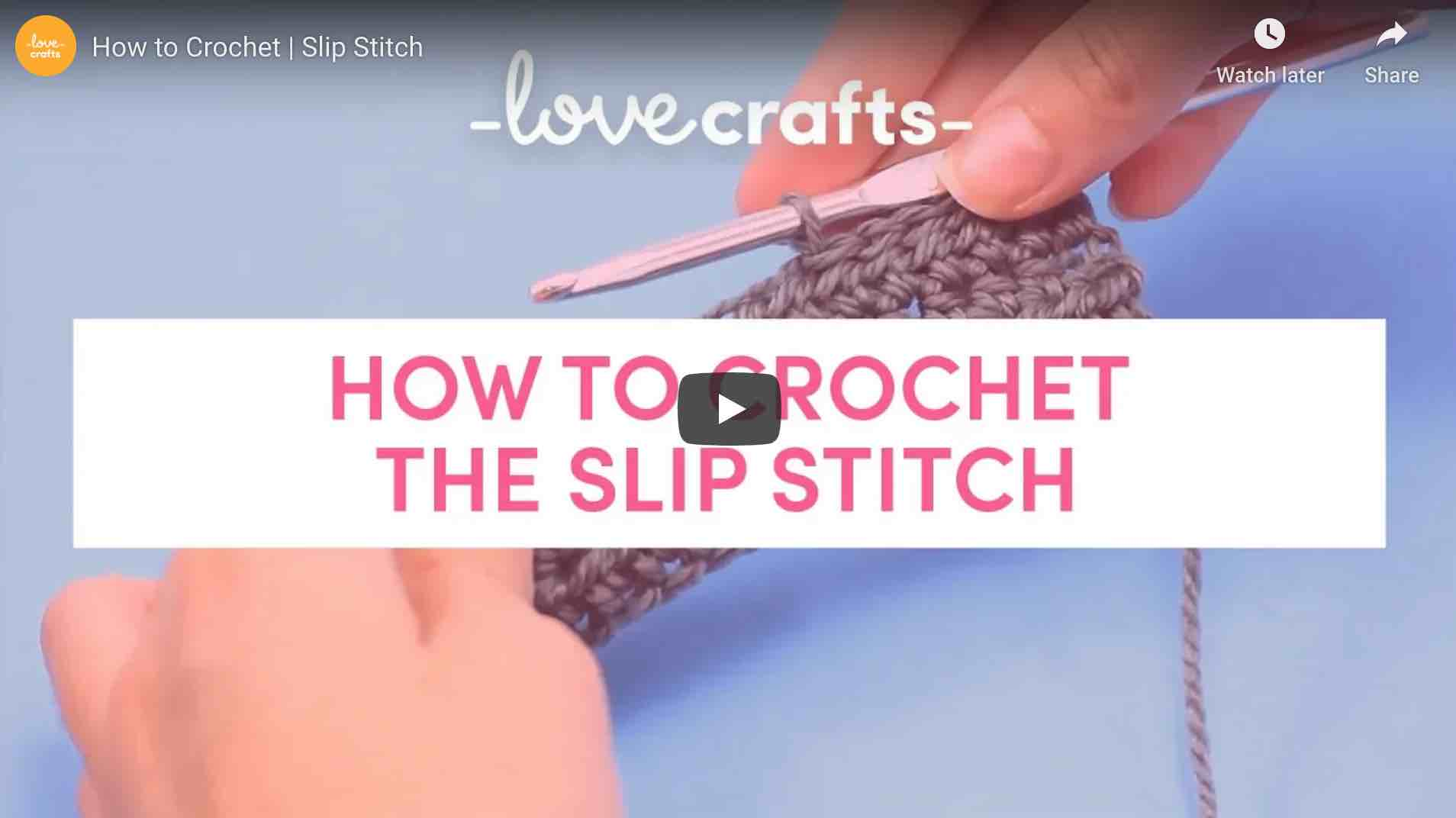 How To Slip Stitch Lovecrats Start Crochet