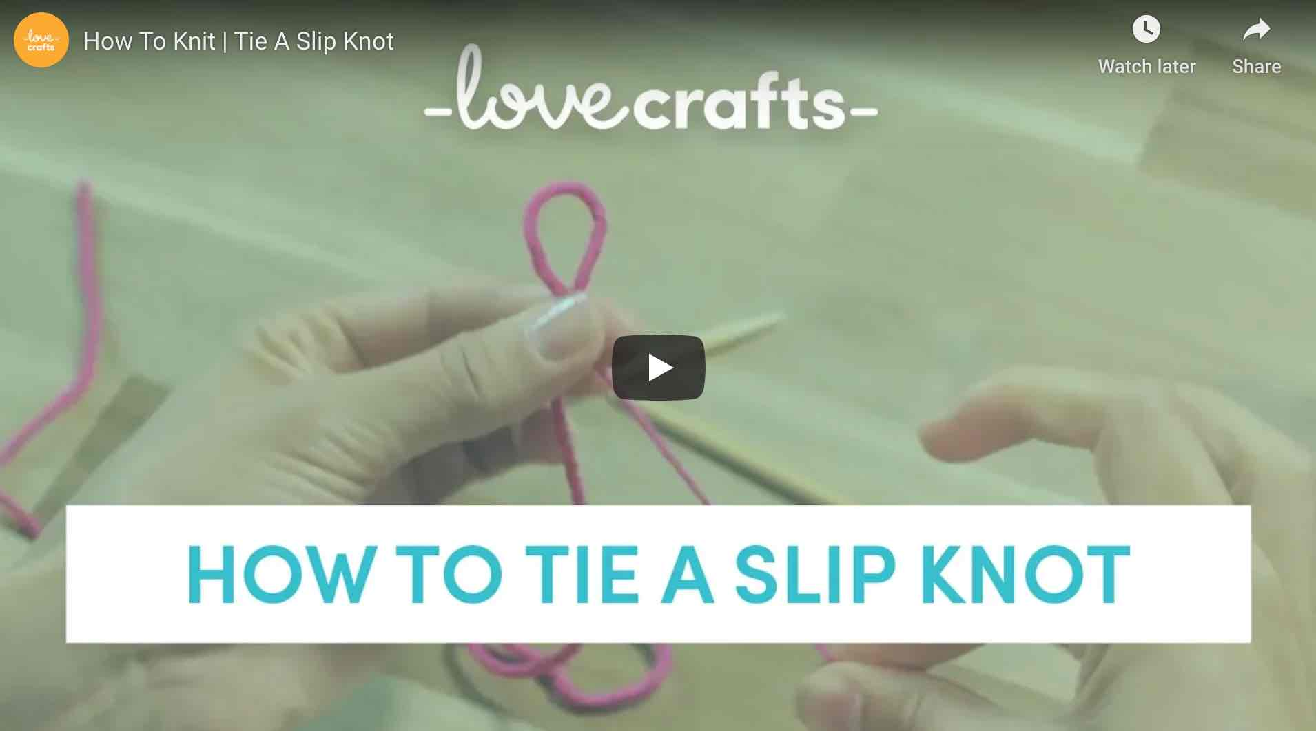 How To Tie A Slip Knot Lovecrafts Start Crochet