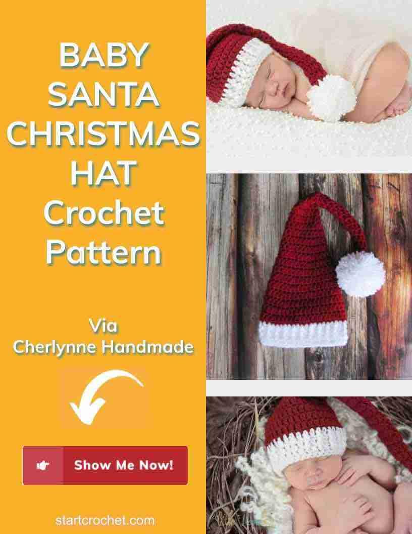 Baby Santa Christmas Hat Crochet Pattern Start Crochet