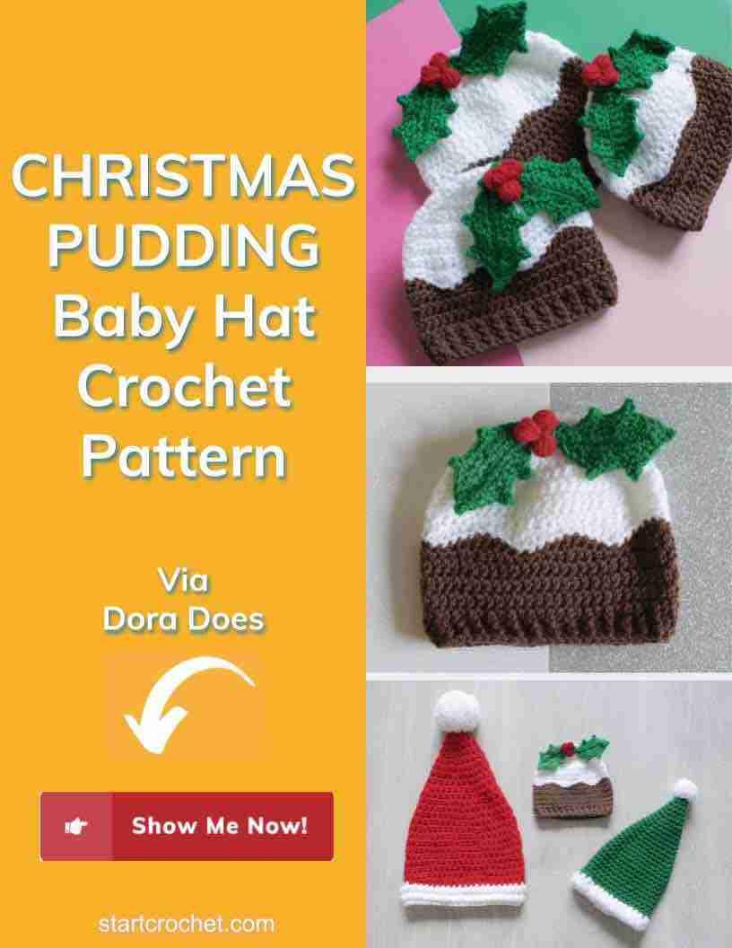 Christmas Pudding Baby Hat Crochet Pattern Start Crochet