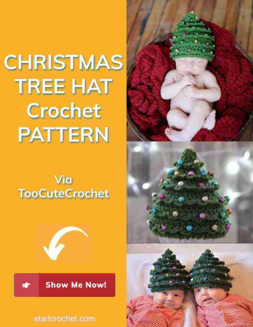Christmas Tree Hat Crochet Pattern Start Crochet
