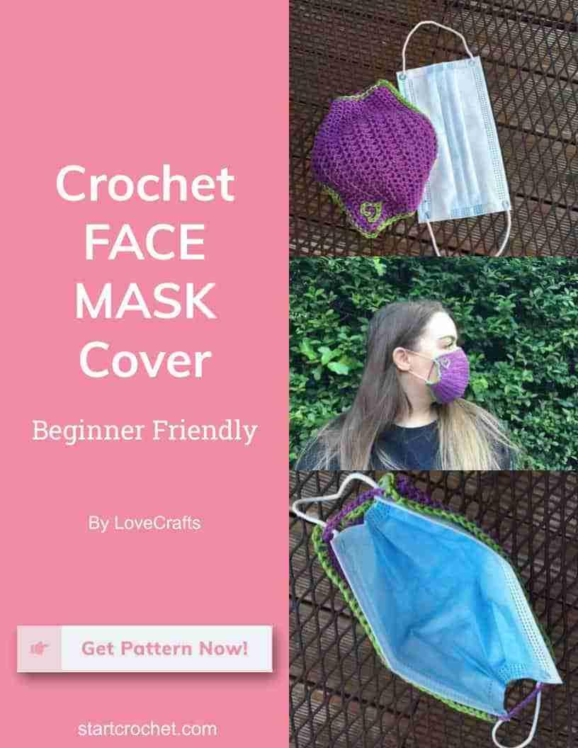 Crochet Face Mask Cover Lovecarfts Start Crochet (1)