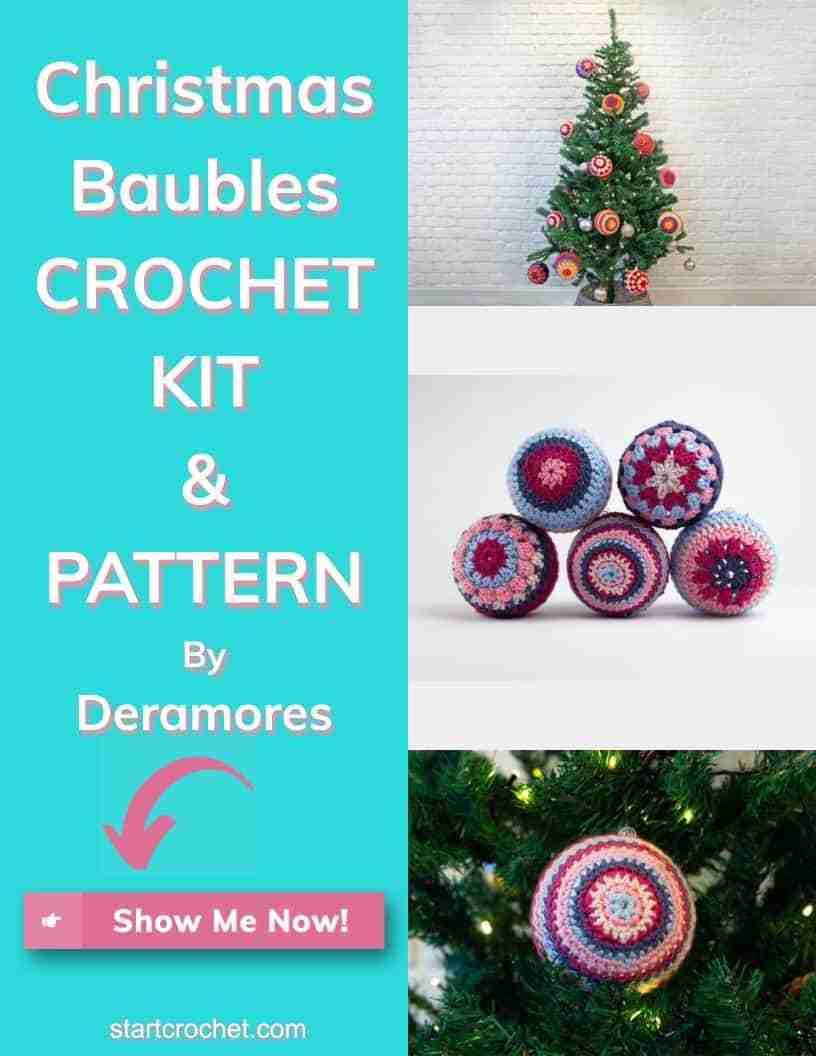 Christmas Baubles Crochet Kit & Pattern Dramores Start Crochet (1)