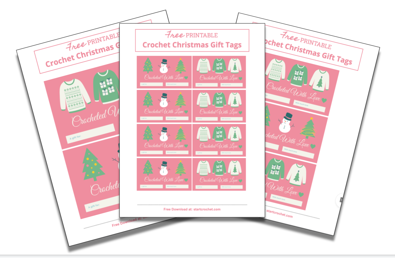 Christmas Crochet Gift Tags (free Printable) Start Crochet