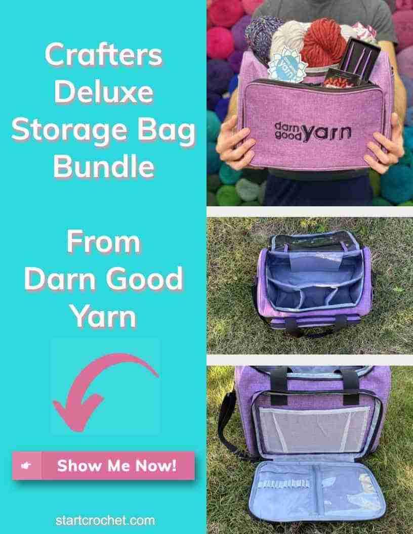 Crafters Deluxe Storage Bag Bundle Darn Good Yarn Start Crochet