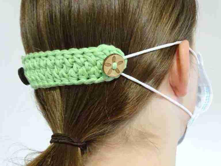 Crochet Mask Ear Saver Extender Start Crochet1