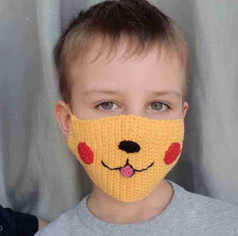 Face Mask Pikachu Crochet Pattern Start Crochet