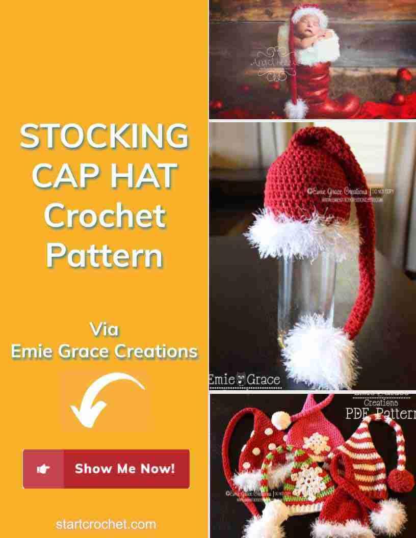 Stocking Cap Hat Crochet Pattern Start Crochet