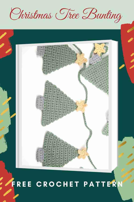 Christmas Tree Bunting Free Crochet Pattern - Start Crochet