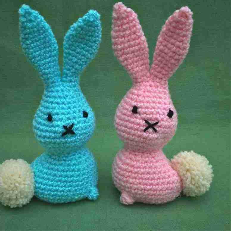 a pair of easter bunnies free crochet pattern start crochet