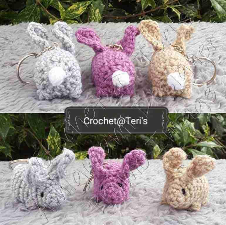 amigurumi twisted rabbit keychains free crochet pattern start crochet