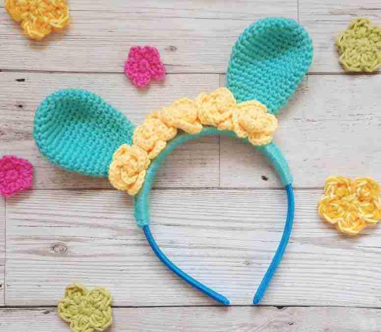 bunny rabbit headband free crochet pattern
