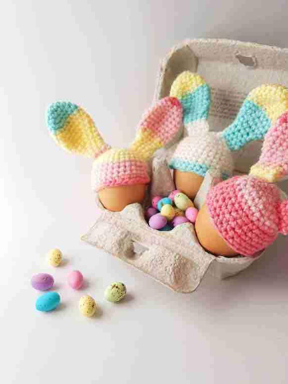easter bunny egg cosy free crochet pattern start crochet
