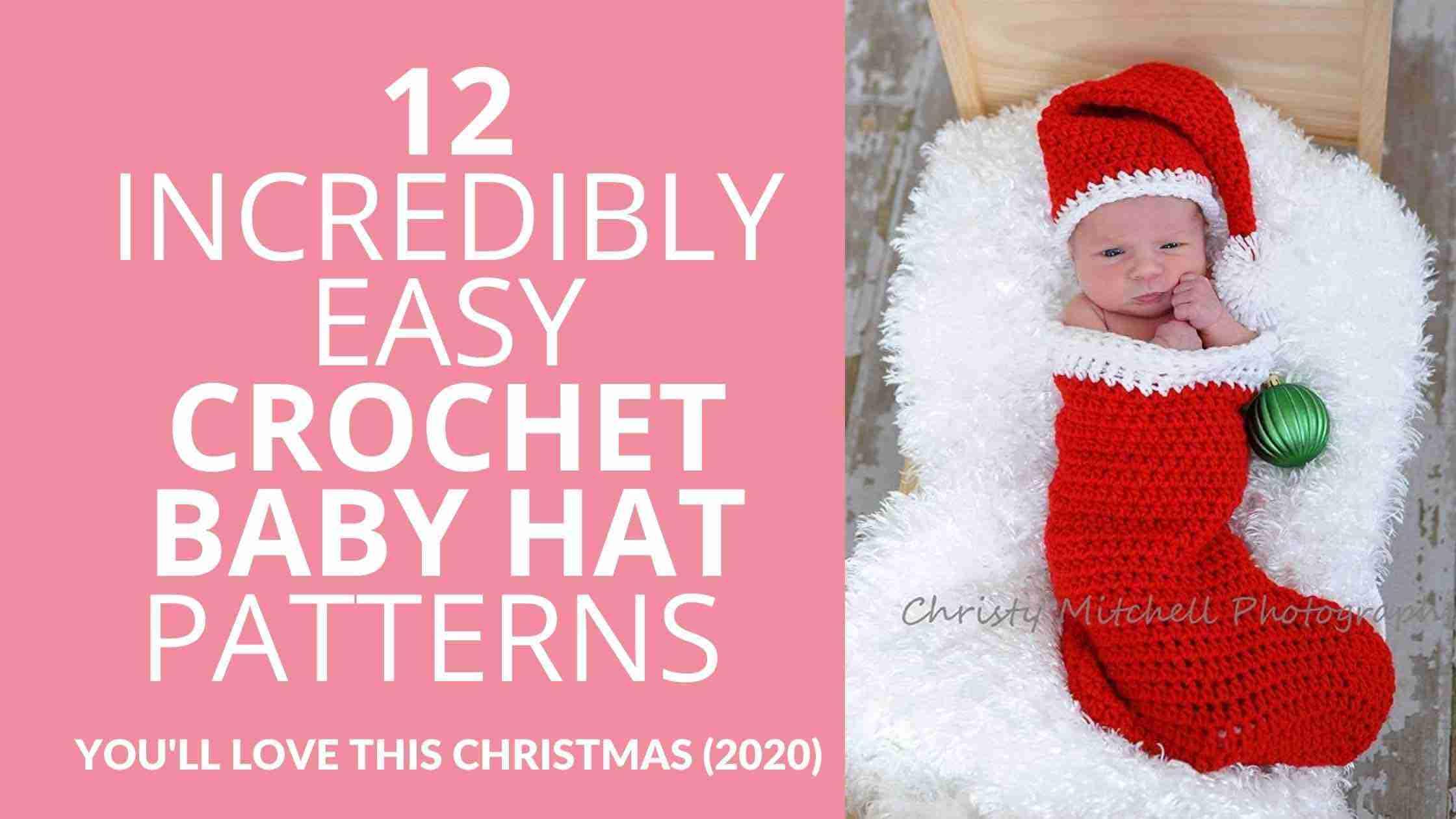 Easy Crochet Baby Hat Patterns Christmas - Start Crochet