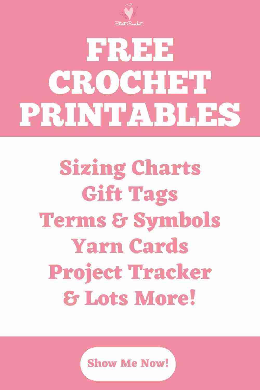 Free Crochet Printables - Start Crochet