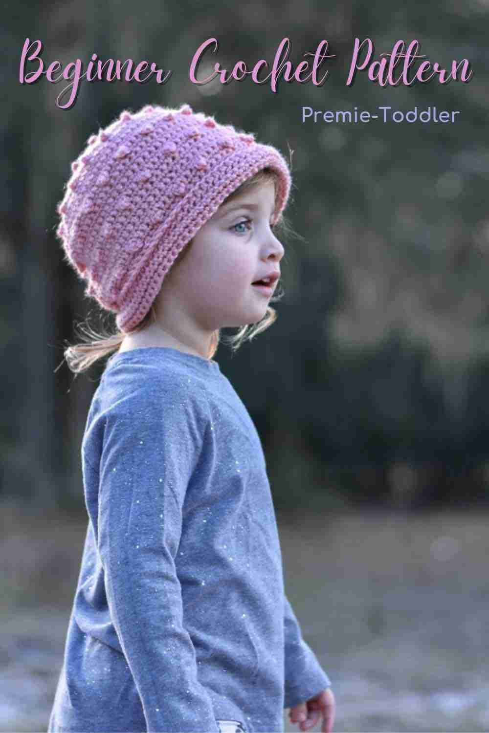 Girl's Bobbly Knobbly Hat Free Crochet Pattern For Your Adorable Cutie Pie Start Crochet