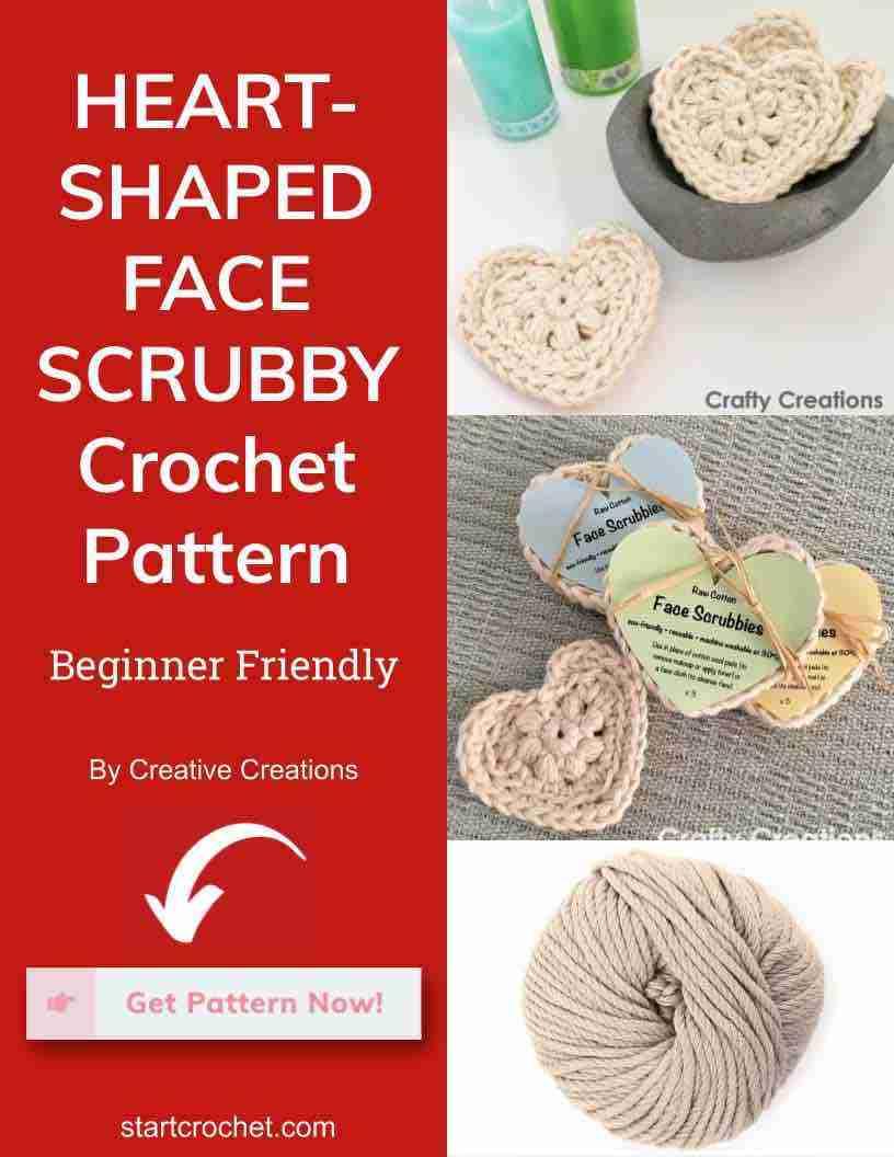 Heart Shaped Face Scrubby Crochet Pattern Start Crochet