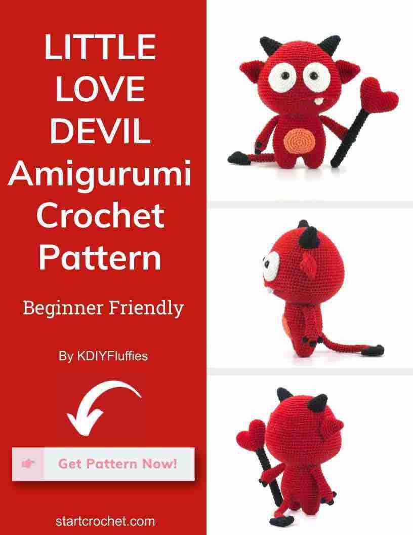 Little Love Devil Amigurumi Crochet Pattern Start Crochet