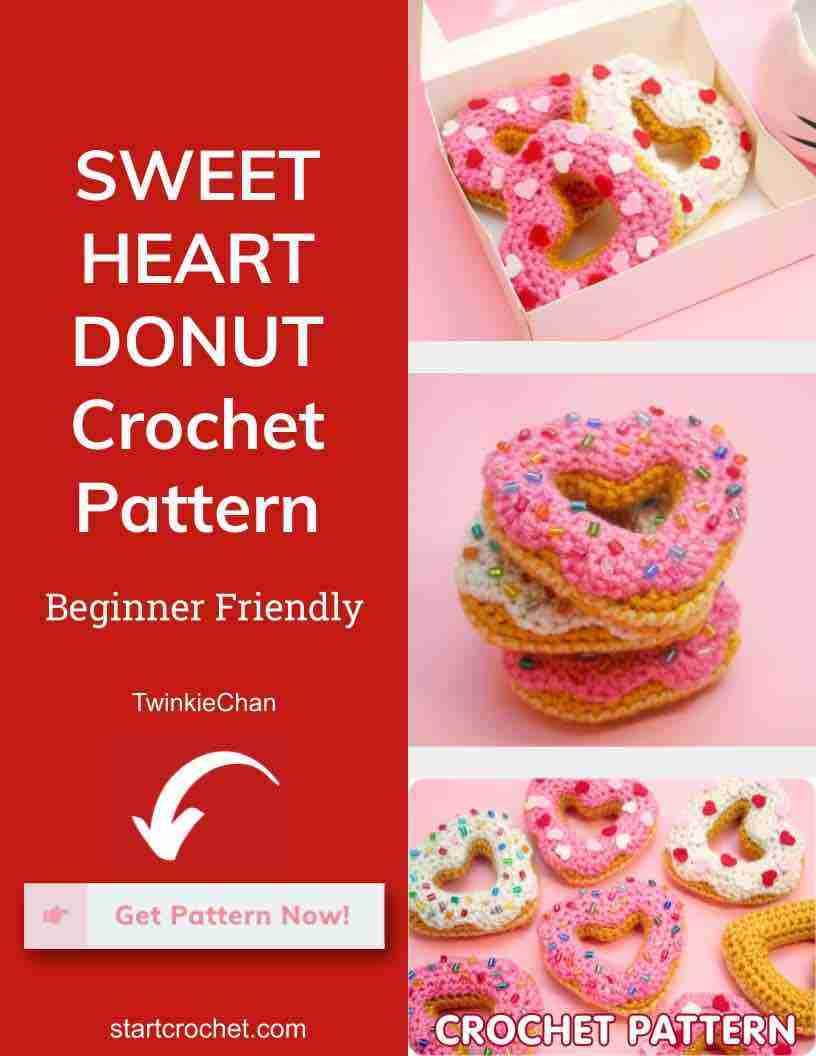 Sweet Heart Donut Crochet Pattern Start Crochet