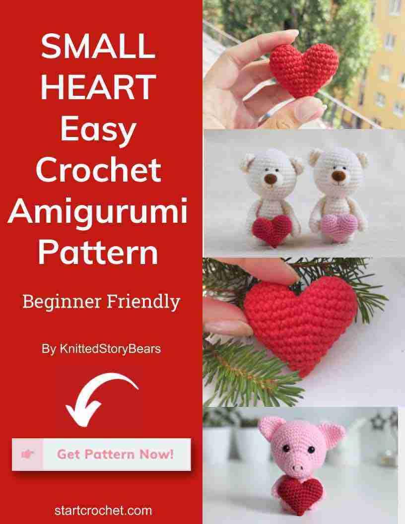 Small Heart Easy Crochet Pattern Start Crochet