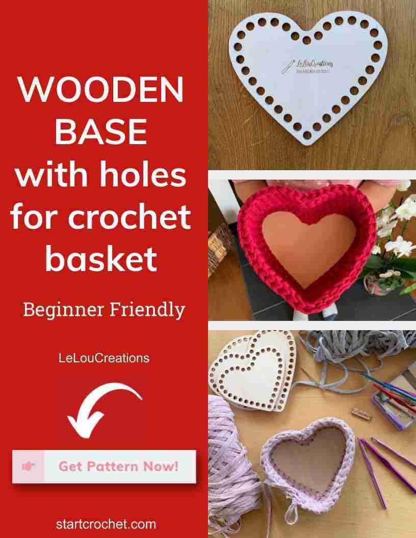Wooden Base With Holes For Crochet Basket Start Crochet